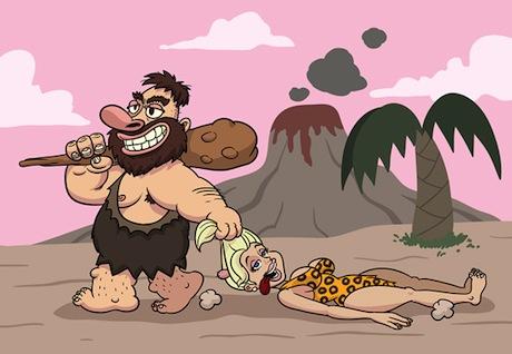 cave-man-dragging-woman